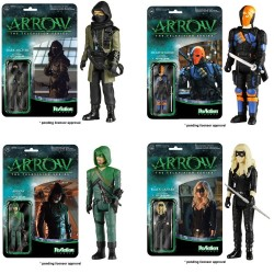 Arrow ReAction Actionfiguren komplettes Set mit 4 Figuren (10 cm)