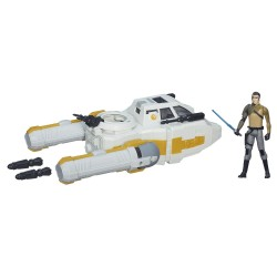 Star Wars Rebels Class I Deluxe Fahrzeug 2015 Y-Wing Scout Bomber + Kanan Jarrus (Rebels)