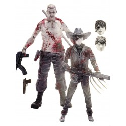 The Walking Dead Comic Version Actionfiguren Doppelpack Abraham Ford & Carl Grimes Previews Exclusive (15 cm)