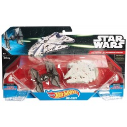 Star Wars Hot Wheels Diecast Fahrzeuge 2-Pack First Order TIE Fighter vs. Millennium Falcon