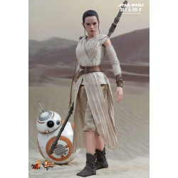 Star Wars Hot Toys 1/6 Movie Masterpiece Actionfiguren Doppelpack Rey & BB-8 (28 cm)