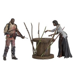 The Walking Dead TV Version Actionfiguren Deluxe Box Doppelpack Morgan & Walker (13 cm)