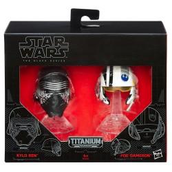 Star Wars Black Series Titanium Diecast Helme Doppelpack Wave 1 (2016) Kylo Ren / Poe Dameron