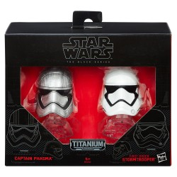 Star Wars Black Series Titanium Diecast Helme Doppelpack Wave 1 (2016) Captain Phasma / First Order Stormtrooper