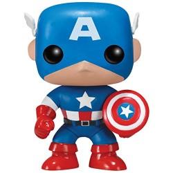Marvel Comics Funko POP! Vinyl Wackelkopf-Figur Captain America (10 cm)