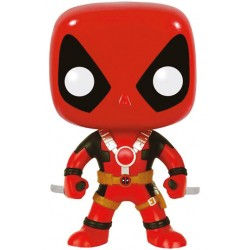 Marvel Comics Funko POP! Vinyl Wackelkopf-Figur Deadpool Two Swords (10 cm)