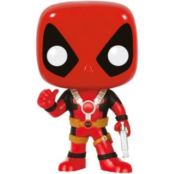 Marvel Comics Funko POP! Vinyl Wackelkopf-Figur Deadpool Thumb Up Version (10 cm)