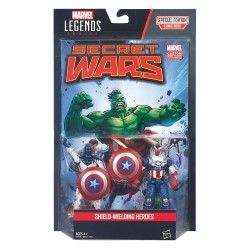 "Marvel Legends Doppelpack Shield-Wielding Heroes (Captain America & Vance Astro) 3.75"" (10 cm)"