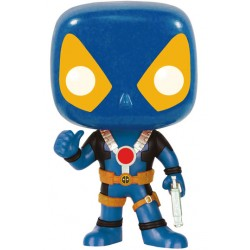 Marvel Comics Funko POP! Vinyl Wackelkopf-Figur Deadpool Thumb Up X-Men Costume (10 cm)